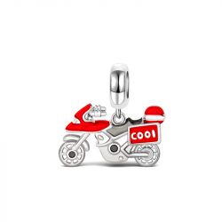 Cool Motorcycle Pendant Sterling Silver
