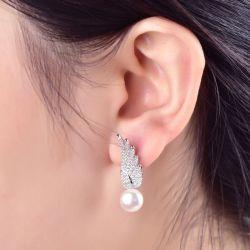 Angel Wing Asymmetric Earring Drops