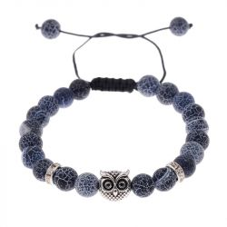 Owl and Bead Men's Bracelet