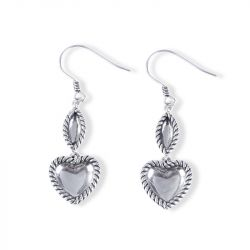 Rope Heart Earrings