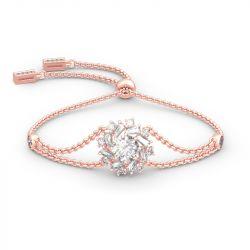 Sunshine Round Cut Sterling Silver Bracelet