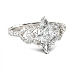 Classic Marquise Cut Sterling Silver Ring