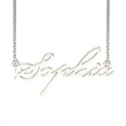 Silver Beautiful-ES Style Name Necklace