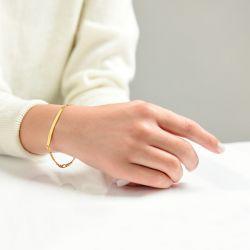 Gold Tone ID Bracelet Sterling Silver