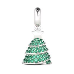 Christmas Tree Charm Sterling Silver