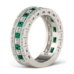 Vinatge Round Cut Sterling Silver Women's Band