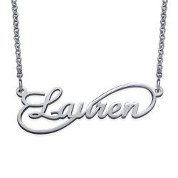 One Name Infinity Necklace Sterling Silver