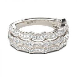 Wavy Milgrain Sterling Silver Women's Band