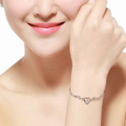 Angel's Heart Sterling Silver Bracelet