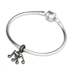 Musical Note Pendant Sterling Silver