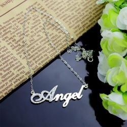 Als Script Name Necklace