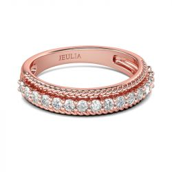Rose Gold Tone Sterling Silver Women's Band