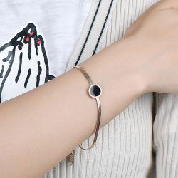 Simple Rose Gold Tone Titanium Steel Bracelet
