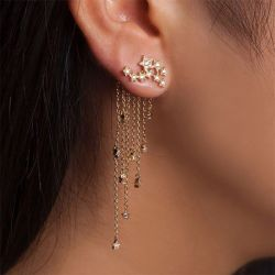Tassel Star Sterling Silver Ear Jackets