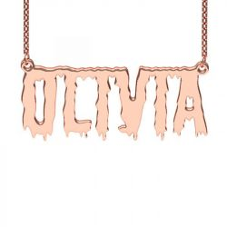 Rose Gold Tone Shlop Style Name Necklace