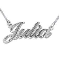 Silver Classic Name Necklace
