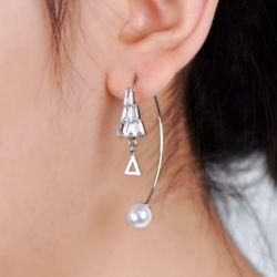 Unique Geometric Sterling Silver Hoop Earrings