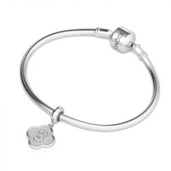 Number Three Charm Sterling Silver