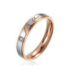 'True Love' Titanium Steel Couple Rings