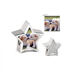 Five-pointed Star Photo Charm Sterling Silver