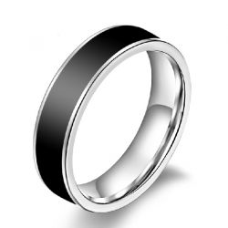 Jeulia Charming Simple Titanium Steel Men's Band