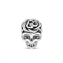 Black Skull Charm Sterling Silver