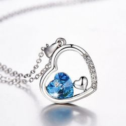 Romantic Heart Sterling Silver Necklace