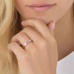 Rose Gold Tone Stackable Name Ring