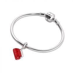 Red Purse Charm Sterling Silver