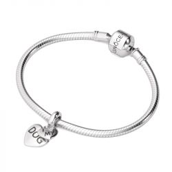 I Love My Dog Charm Sterling Silver