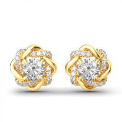Knot of Love Sterling Silver Stud Earrings