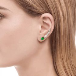 Royal Emerald Green Climber Earrings
