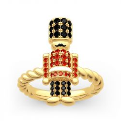 Jeulia British Royal Guard Inspired Sterling Silver Ring