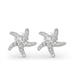 Starfish Sterling Silver Stud Earrings