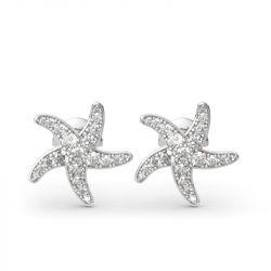 Starfish Sterling Silver Stud Earrings