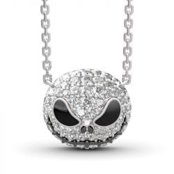 """Pumpkin King"" ""Jack Skull""Sterling Silver Skull Necklace"