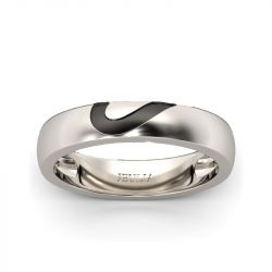 Jeulia Heart Shape Sterling Silver Men's Band