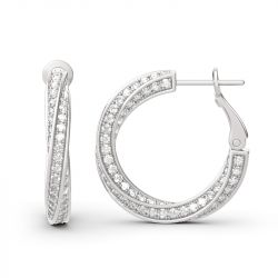 Twist Sterling Silver Hoop Earrings