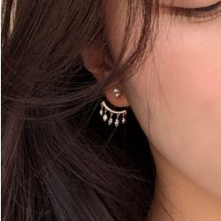 Tassel Sterling Silver Ear Jackets