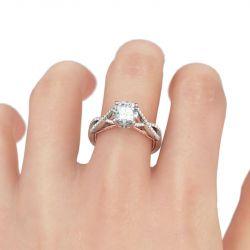Twist Milgrain Sterling Silver Ring