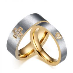 Titanium Steel Couple Rings