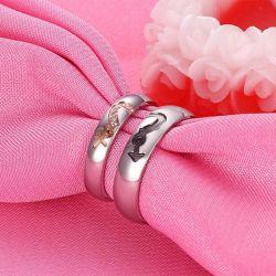 Heart Couple Rings Titanium Steel