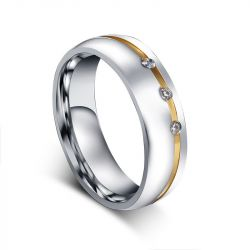 Two Tone Stainless Steel Women's Band