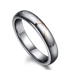 Heart Tungsten Steel Women's Band