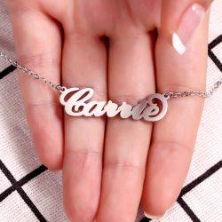Three Tone Name Necklace