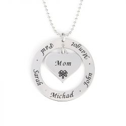 Engraved Necklace Sterling Silver