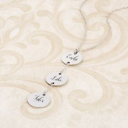 Engraved Y-Shape Sterling Silver Necklace