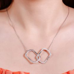 Interlocking Personalized Sterling Silver Necklace