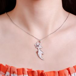Mermaid Personalized Sterling Silver Necklace