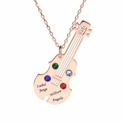 Guitar Personalized Sterling Silver Necklace
